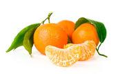 Mandarin isoliert auf einem weißen — Stockfoto