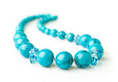 Turquoise necklace close-up — Zdjęcie stockowe