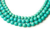 Turquoise necklace — Stock Photo
