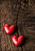 Decorative red hearts — Stock Photo