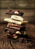Assortment of chocolate — Stock Photo