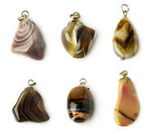 Set of agate pendants  — Stock Photo