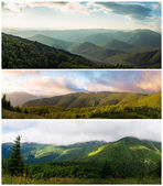 Ukrainian Carpathians. View from Mount Serednya — Foto de Stock