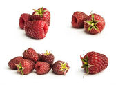 Collection of ripe red raspberries  — Stock Photo