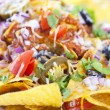 Nachos background — Stock Photo