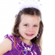 Close up portrait of pretty little girl dressed up — Stock Photo