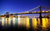 Manhattan Bridge at sunset — Stock Photo