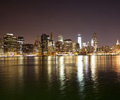 Downtown NYC skyline — Stock Photo