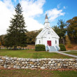 New England white church — Stock Photo
