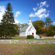 New England white church — Stock Photo #15747885