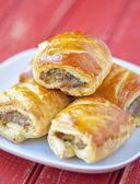 Sausage rolls — Stock Photo