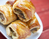 Sausage rolls — Stock Photo