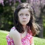 Annoyed little girl — Stock Photo
