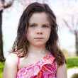 Stock Photo: Upset child outside in park