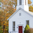 New England Church in Autumn — Stock Photo