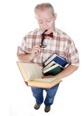Middle Aged Man Reading A Book — Stock Photo