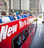 NY Sightseeing Tour Bus — Стоковое фото