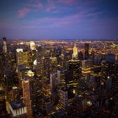 New York City Skyline at sunset — Stock Photo