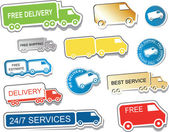 Delivery Stickers — Stock Vector