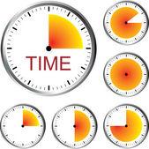 Clock Series — Stock Vector