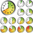 12 Hours clock set — Stock Vector