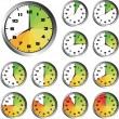 12 Hours clock set — Stock Vector #19273659