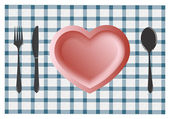 Love Diner — Stock Vector
