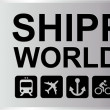 Shipping Worldwide Silver — Stok Vektör