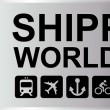 Shipping Worldwide Silver — Stok Vektör #19874301
