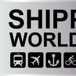 Shipping Worldwide Silver — Stock Vector