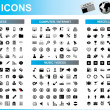 245 Icons Set - Stock Vector