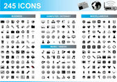245 Icons Set — Stock Vector