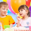 Birthday of cute kids twins — Stock Photo #12605942
