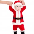 First steps of Santa claus kid — Stock Photo #12732927