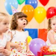 Funny children on birthday party — Stock Photo