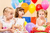 Funny children on birthday party — Stock Photo