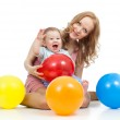 Cute mother and baby having fun — Stock Photo #14435401