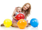 Cute mother and baby having fun — Stock Photo