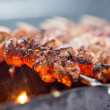 Barbecue or fried beef or pork meat - Stock Photo