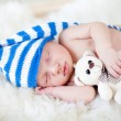 Sleeping baby boy — Stock Photo
