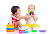 Kids girls playing toy together — Stock Photo