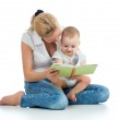 Mother reading a book to her baby boy — Stock Photo #24542335