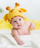 Funny infant baby boy — Stock Photo