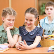 School kids at lesson pause — Stock Photo #25959715