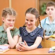 Stock Photo: School kids at lesson pause