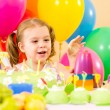 Kid girl on party birthday — Stock Photo