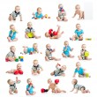 Stock Photo: Collection of active baby or kid boy