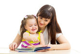 Mother reading to child a book — Stock Photo