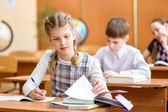 Niños de la escuela en la lección — Foto de Stock