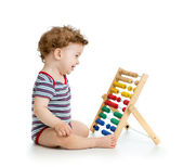 Early learning baby boy — Stock Photo